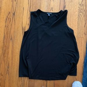 Eileen Fisher V neck top Black Petite Small